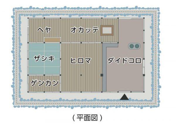 隠居屋平面図